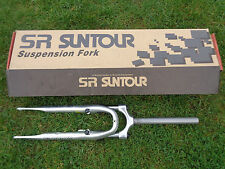 NEW SET SR SUNTOUR CR850 FRONT SUSPENSION BIKE FORKS 700C TUBE 255MM LG X 1 1/8""