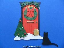 CHRISTMAS GEORGIAN FRONT DOOR DIE CUTS FOR CARD TOPPERS