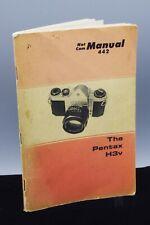 Pentax H3v (Sv) Camera Service/Repair Manual/Textbook