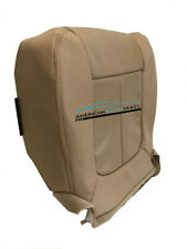2014 Ford Lariat Extended Cab Passenger Bottom Perforated Vinyl Seat Cover Tan