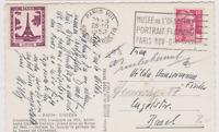 CARTE CPA  FRANCE OPERA BUS 1952 MUSEE ORANGERIE FLAMME TOUR EIFFEL  VIGNETTE 39