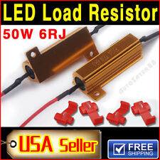 2PCS 50W 6ohm LOAD RESISTOR FOR TURN SIGNALS BLINKER LED BULB FAST FLASH FIX