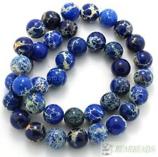 Natural Sea Sediment Jasper Gemstone Round Ball Beads 6mm 8mm 10mm 12mm 15.5