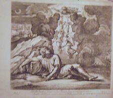 EAU FORTE DE NICOLAS CHAPERON 1649 LES LOGES DU VATICAN DE RAPHAEL REVE DE JACOB