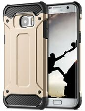 Shock Proof Heavy Duty Strong Back Case Cover for Various Samsung Galaxy Mobiles A3 2017 (a320) Gold