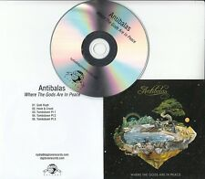 ANTIBALAS Where The Gods Are In Peace UK 5-track promo test CD