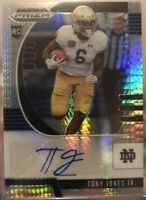 2020 Panini Prizm Draft Picks Tony Jones Jr Hyper Prizm Auto 5/75 Notre Dame 🔥