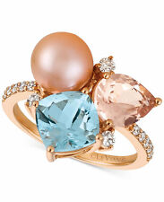 Le Vian Multi-Gemstone,Cultured Freshwater Pearl & Diamond Ring in 14k Rose Gold
