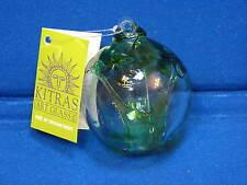 NEW Kitras Art Glass Green Ball Ornament Tree of Enchantment Spring NWT Canada
