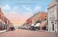 Wisconsin postcard Prairie du Chien Main street street scene