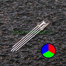 100pcs RGB LED Water Clear Lens 5mm Common Anode 4-Pin Red Green Blue 100x V35