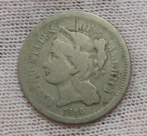 1866 3¢ Cent Nickel. #32