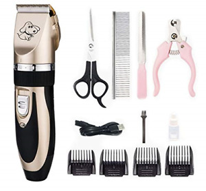 Electric Pet Grooming Clippers,I-live Rechargeable Cordless Pet Fur Grooming Kit
