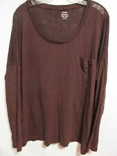 Old Navy women plus size XXL Red/Black stretchy long sleeve Lot#2