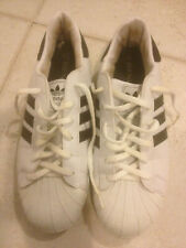 ADIDAS SUPERSTAR LEATHER WHITE&BLACK SHOES SIZE 44