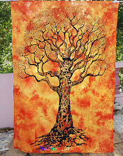 Tapestry Mandala Tree Of Life  Bedspread Indian Twin Hippie WallHanging Home