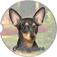 Chihuahua Black & Tan Auto Coasters