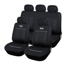 Fundas de asiento de coche de invierno Coj/ín Veh/ículo antideslizante Leopardo negro Peluche c/álido