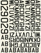 Combat Models 1:32 1:48 1:72 Black Letters Multiple Sizes Decal #25131Pn
