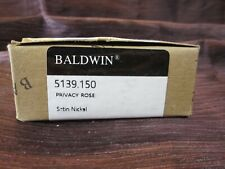 Baldwin 5139150 2.12 in. Satin Nickel Pair of Estate Rosettes New in Box