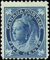 1897 Mint NG Canada F Scott #70 5c Maple Leaf Issue Stamp