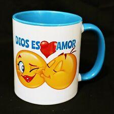 New listing Taza Cristiana Para Cafe - Christian Coffee Mug - 1 Juan 5:7 - 11Oz Blue - Azul