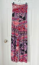 NWT Honey & Lace Piphany Pacific Palazzo pants red black purple paisley -2XL NEW