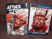 Manga Book Lot Attack on Titan #1 plus Kodansha Comics
