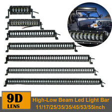 """11/17/25/35/45/53/55"""" 400W Off road Led Work Light Bar Hi/Lo Beam Fit For Jeep"""