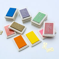 15 Colours Craft Ink Pad For Rubber Stamps Pads DIY Printing Wood Fabric Paper
