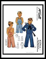McCall 4274 BOY'S SAILOR Suit Nautical Sewing Pattern Costume Play Overalls ~4~