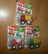 Lot of 3 NEW BUDDY L LIL BUDDYS Sturdy Steel Truck Cars Japan Vintage  80's RARE