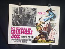 1973 Shanghai Joe~KLAUS KINSKI~CHEN LEE~ Western~ Auth. Mexican Lobby Card