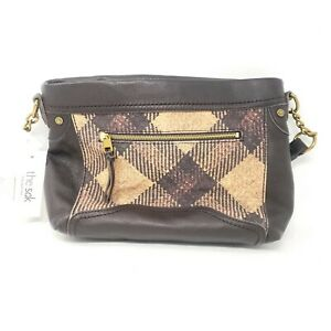 NWT $139 THE SAK Collective Tahoe Cocoa Heritage Tote Bag Purse Brown Plaid
