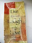 . Home Decor  Live, Laugh And Love.small Decorative Glass Tray 9 X 4