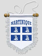 FANION DRAPEAU MARTINIQUE - 13 X 15 CM - VOITURE ET MUR