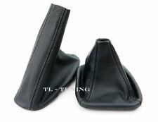 Schaltsack + Handbremssack FADEN GRAU passend für 3er E46 Leder Schaltmanschette