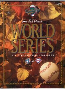 1993 WORLD SERIES Official Scorebook/ Program Toronto Blue Jays vs Phillies