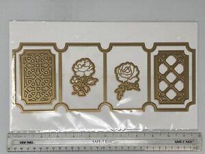 Anna Griffin 5x12 Rose Lattuce Card Frame Embossing Stencil Cutting Dies