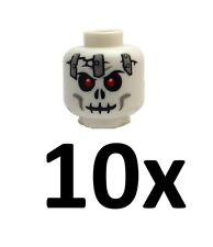 Lego 10x Totenkopf Skelettkopf gruselig Kopf Neu