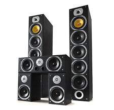 POWERFUL 1240W BLACK SURROUND SOUND HOME CINEMA TOWER SPEAKER SYSTEM SET