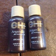 Set Of 2 CHI Argan Oil + Moringa oil for Hair and Skin 0.5 oz x 2=1oz Sealed