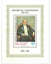 K. ATATURK - NORTHERN CYPRUS 1981 Birthday Centenary block