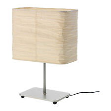 IKEA MAGNARP TABLE LAMP NATURAL SHADE RICE PAPER STEEL NICKEL PLATED