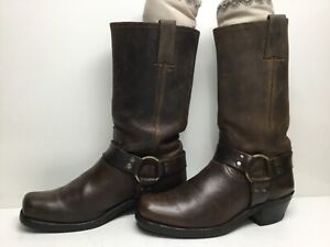 VTG WOMENS FRYE HARNESS MOTORCYCLE BROWN BOOTS SIZE 9 M
