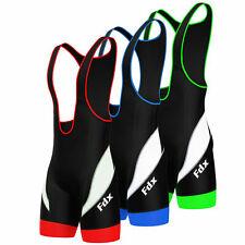 FDX Mens Performance Cycling Bib Shorts Coolmax? Padded Cycle Pants Shorts