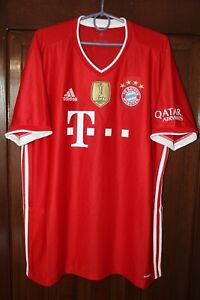 Bayern Munich 2020 2021 Adidas Home Soccer Shirt Jersey Size XL