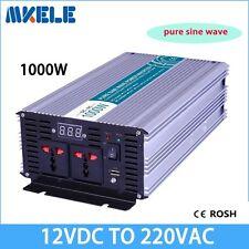 1000W DC12V to AC220V Off Grid Pure Sine Wave Solar Power Inverter LED Display
