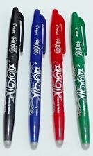 4 x Pilot FriXion Erasable Rollerball PENS 0.7mm Tip Black / Blue / Red / Green