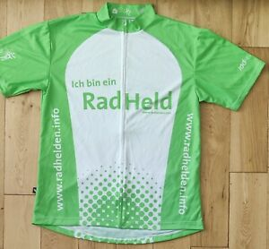 Rad Held  Short Sleeve Cycling Jersey Size XL. White Green